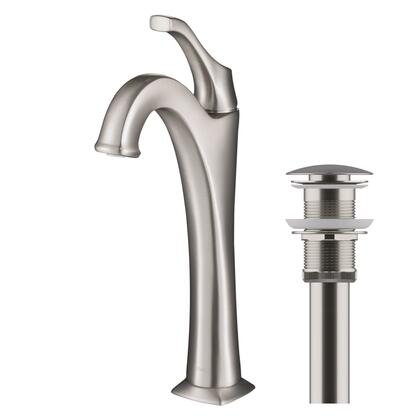 KVF-1200SFS Arlo Spot-Free all-Brite Brushed Nickel Single Handle Vessel Bathroom Faucet with Pop Up