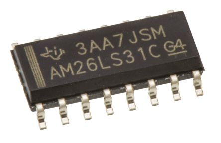 Texas Instruments AM26LS31CD, 4 (RS-422)-TX RS-422, V.11 Line Transmitter Differential 5 V, 16-Pin SOIC (5)
