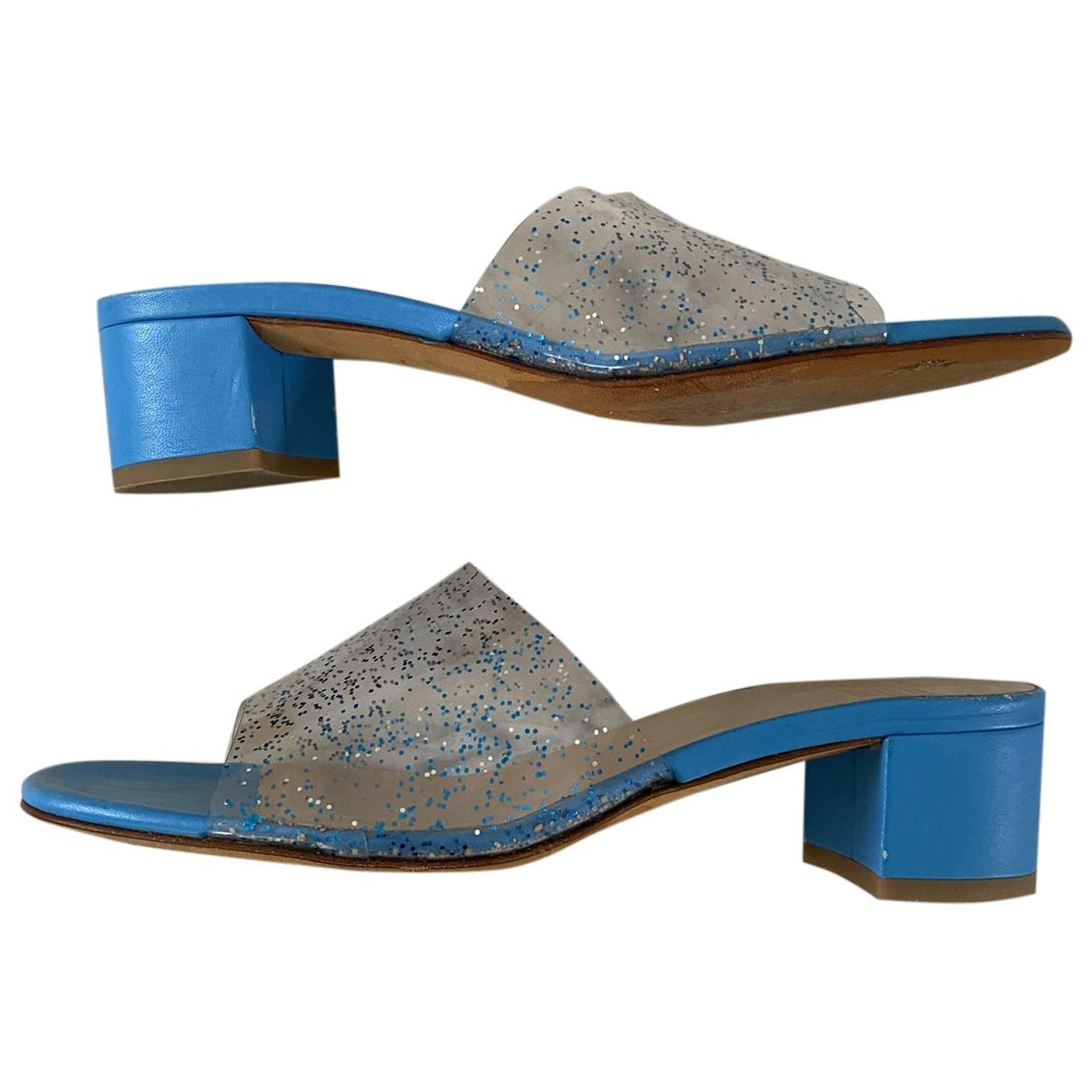 Maryam Nassir Zadeh - Sandales   pour femme en cuir - bleu