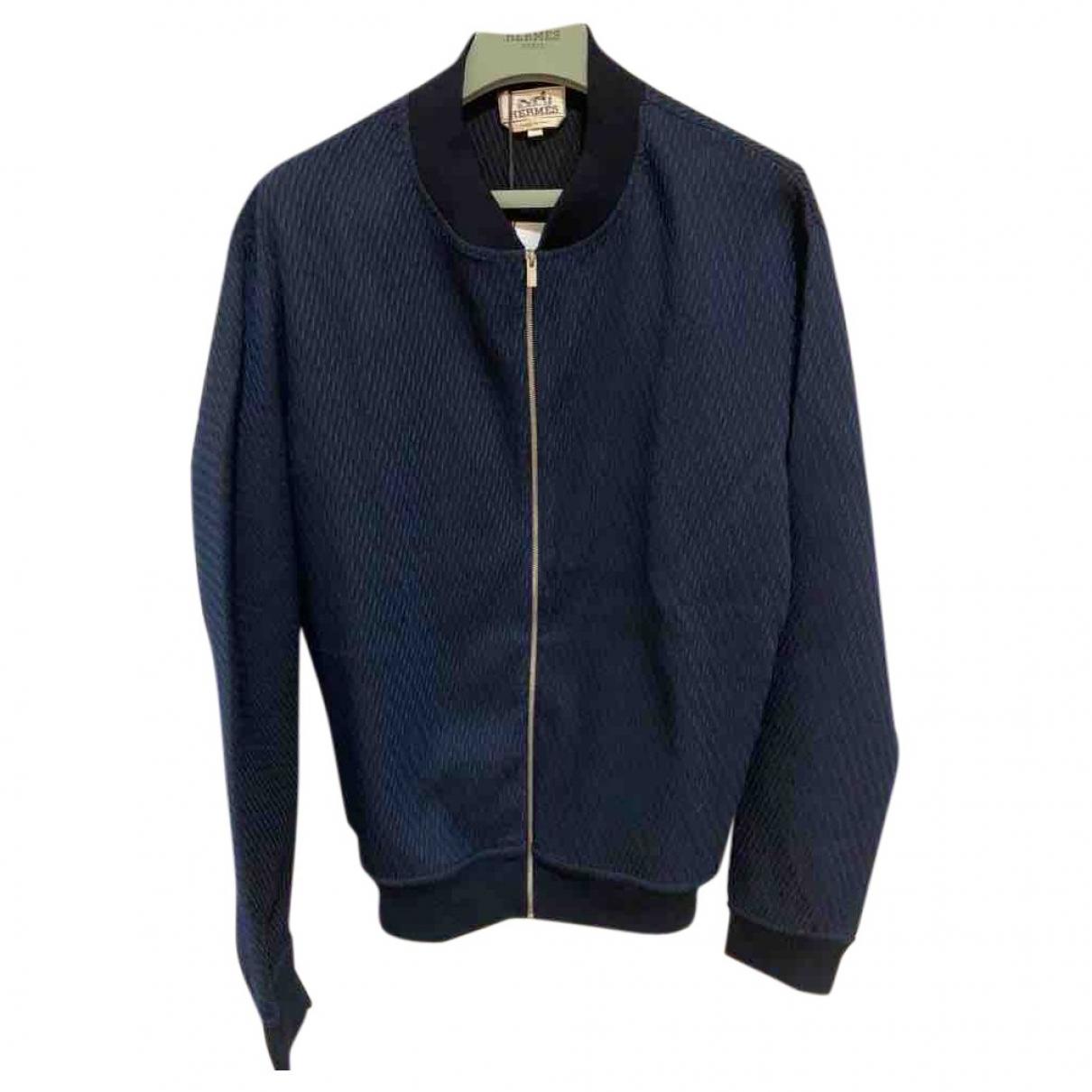 Hermes \N Jacke in  Marine Wolle