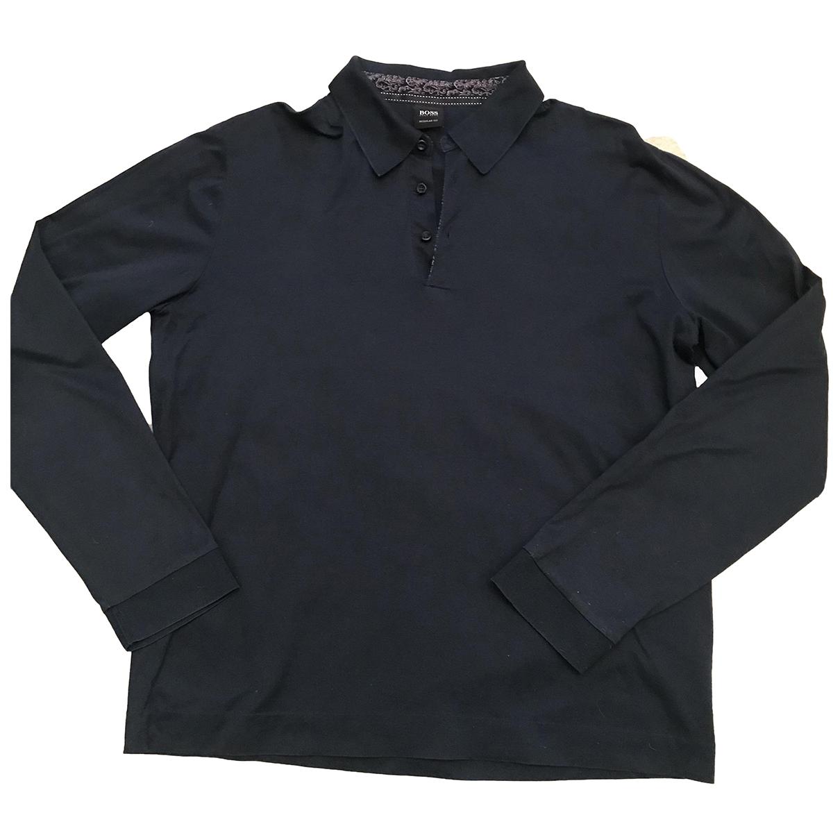 Boss - Polos   pour homme en coton - bleu