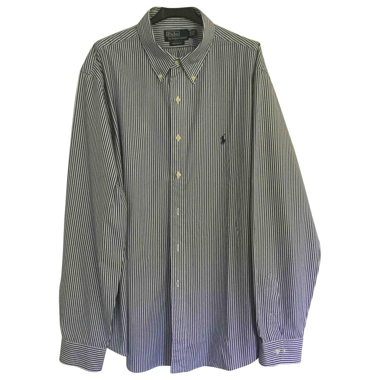Polo Ralph Lauren - Chemises Polo classique manches longues pour homme en coton - blanc
