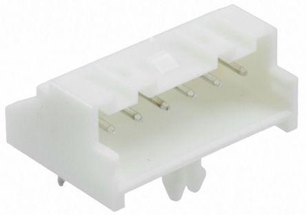 TE Connectivity , Economy Power 2.5, 6 Way, 1 Row, Right Angle PCB Header (10)