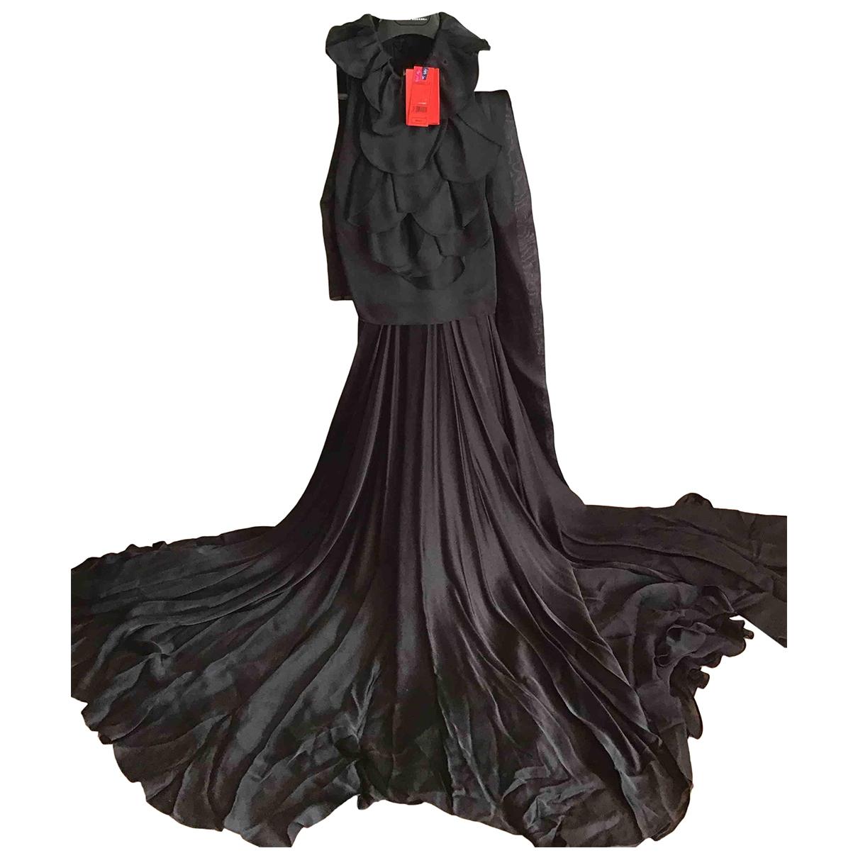 Carolina Herrera \N Kleid in  Schwarz Seide