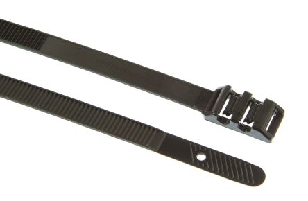 HellermannTyton , Robusto Series Black PA 11 Cable Tie, 355mm x 9 mm
