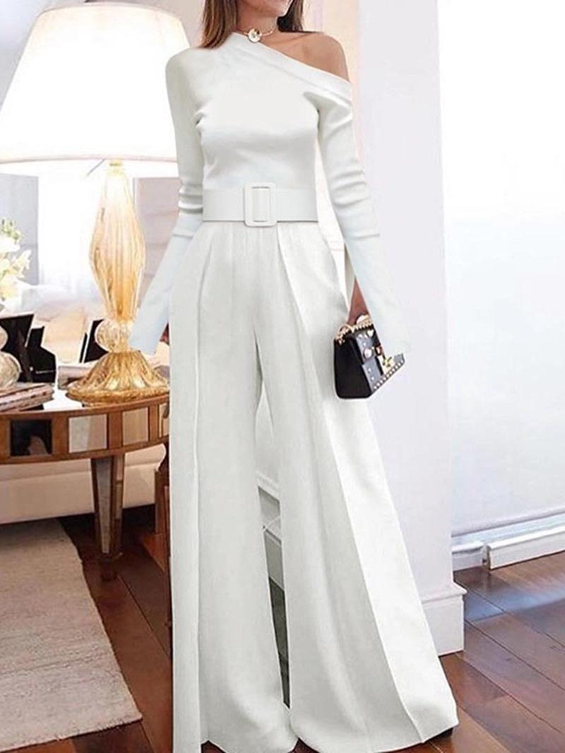 Ericdress Full Length Elegant Plain High Waist Women's Slim Jumpsuit