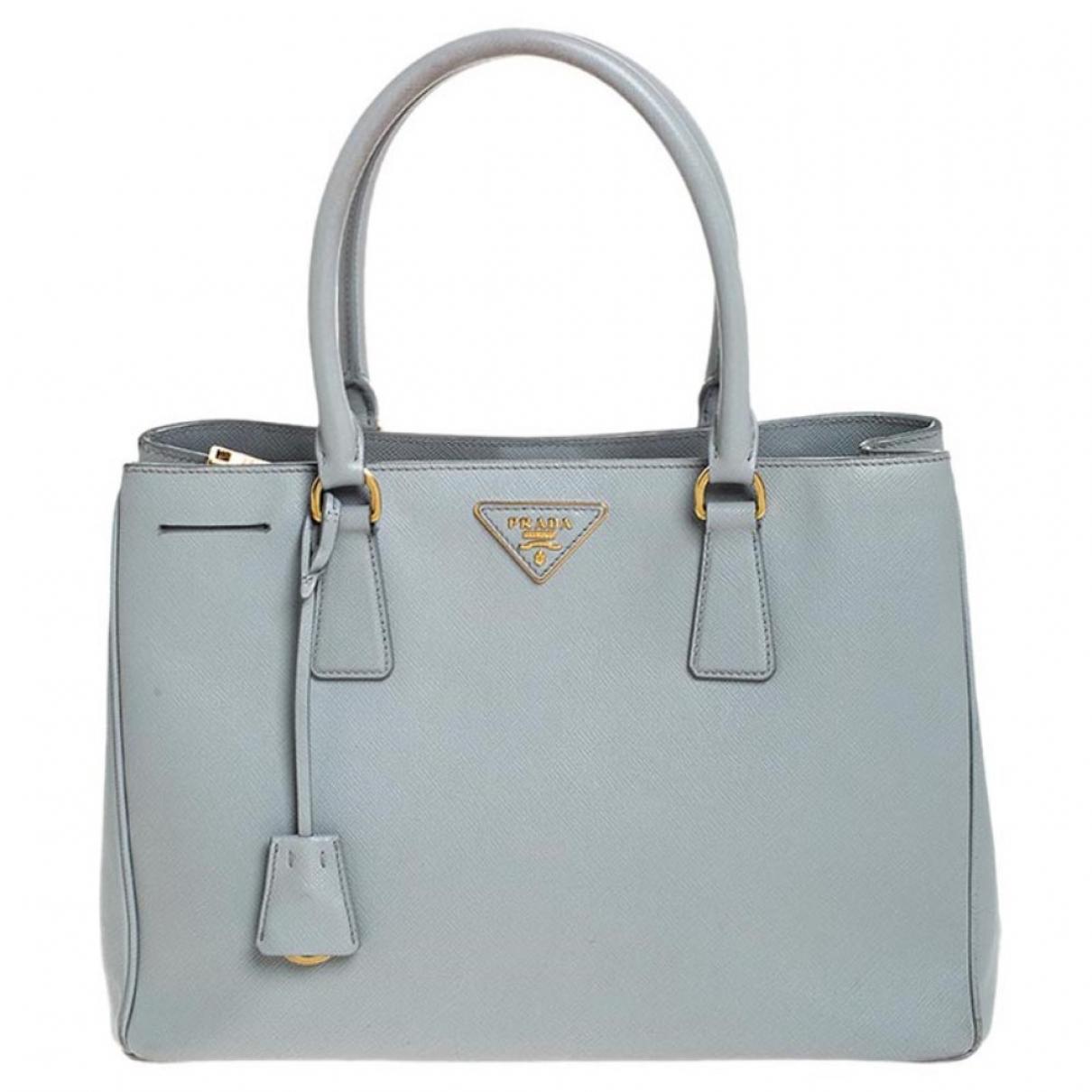 Prada - Sac a main Galleria pour femme en cuir - gris