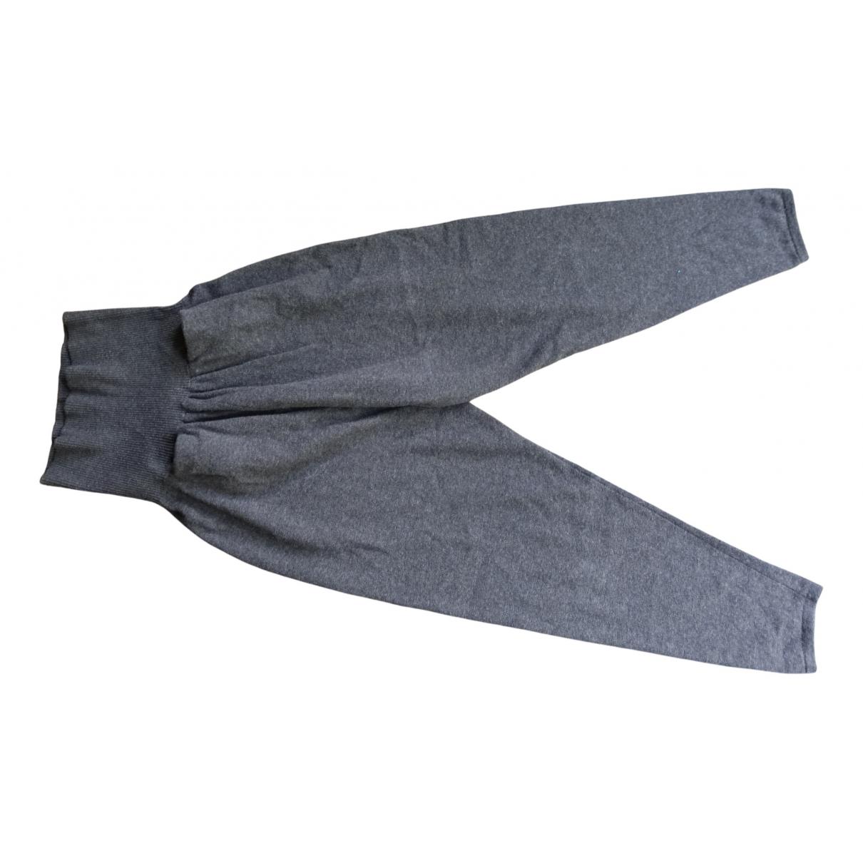 Benetton - Pantalon   pour femme en laine - marron