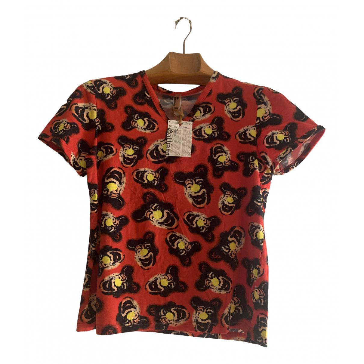 John Galliano - Top   pour femme en coton - rouge