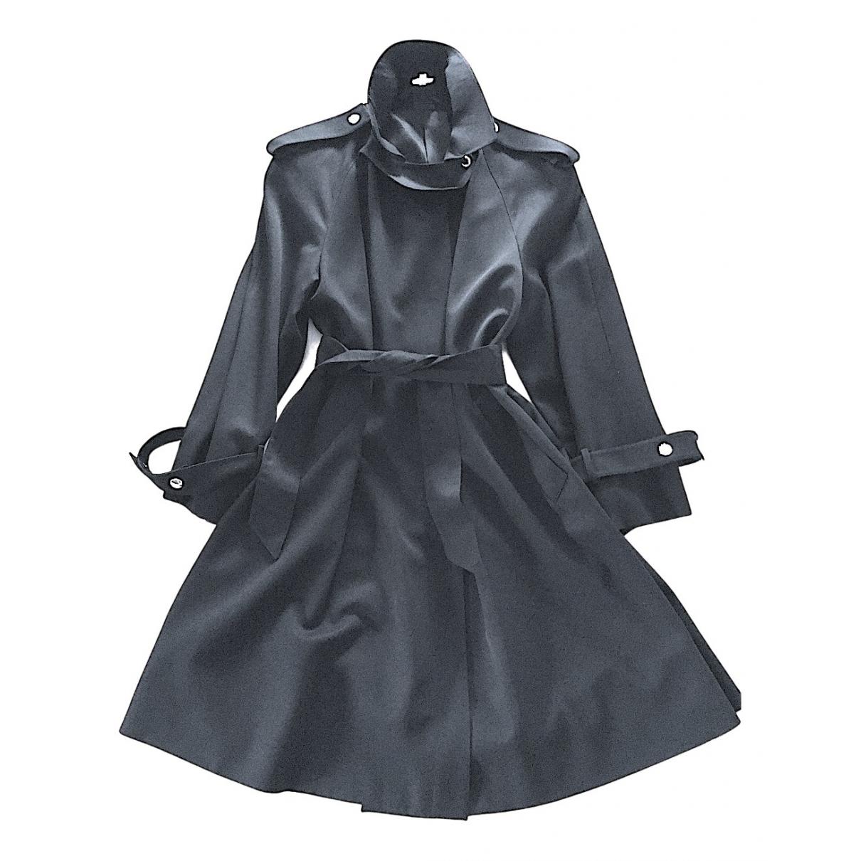 Claude Montana - Manteau   pour femme en laine - noir