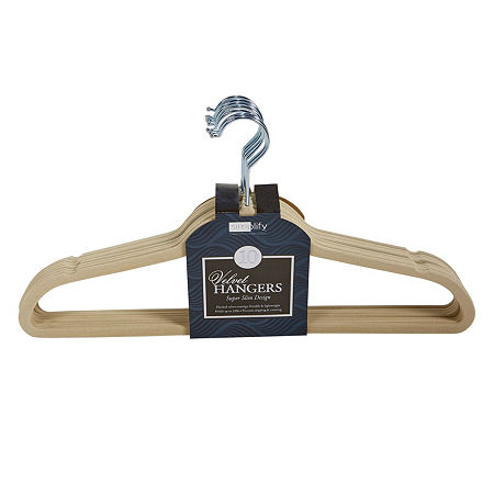 Huggable Basic Hangers 10-Pack, One Size , White