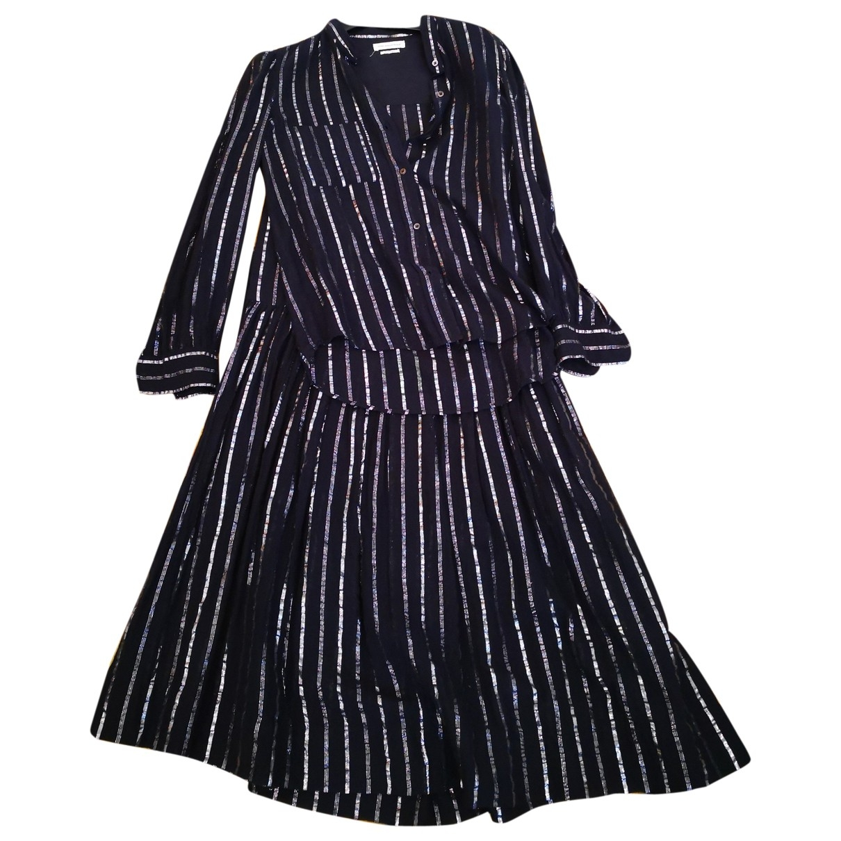 Isabel Marant Etoile \N Kleid in  Schwarz Baumwolle
