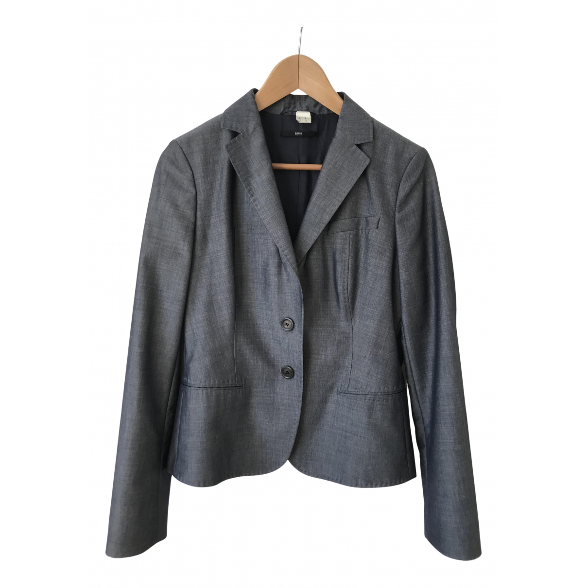 Hugo Boss - Veste   pour femme en laine - bleu