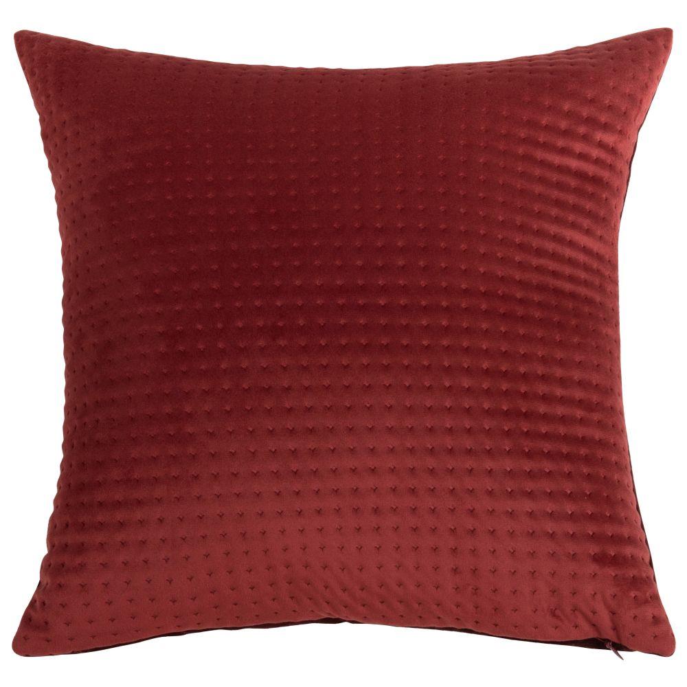 Kissenbezug aus Samt, rot mit Motiven 40x40
