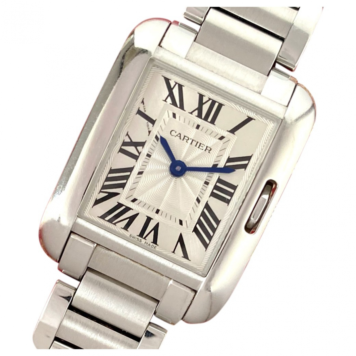 Cartier Tank Anglaise Silver Steel watch for Women \N