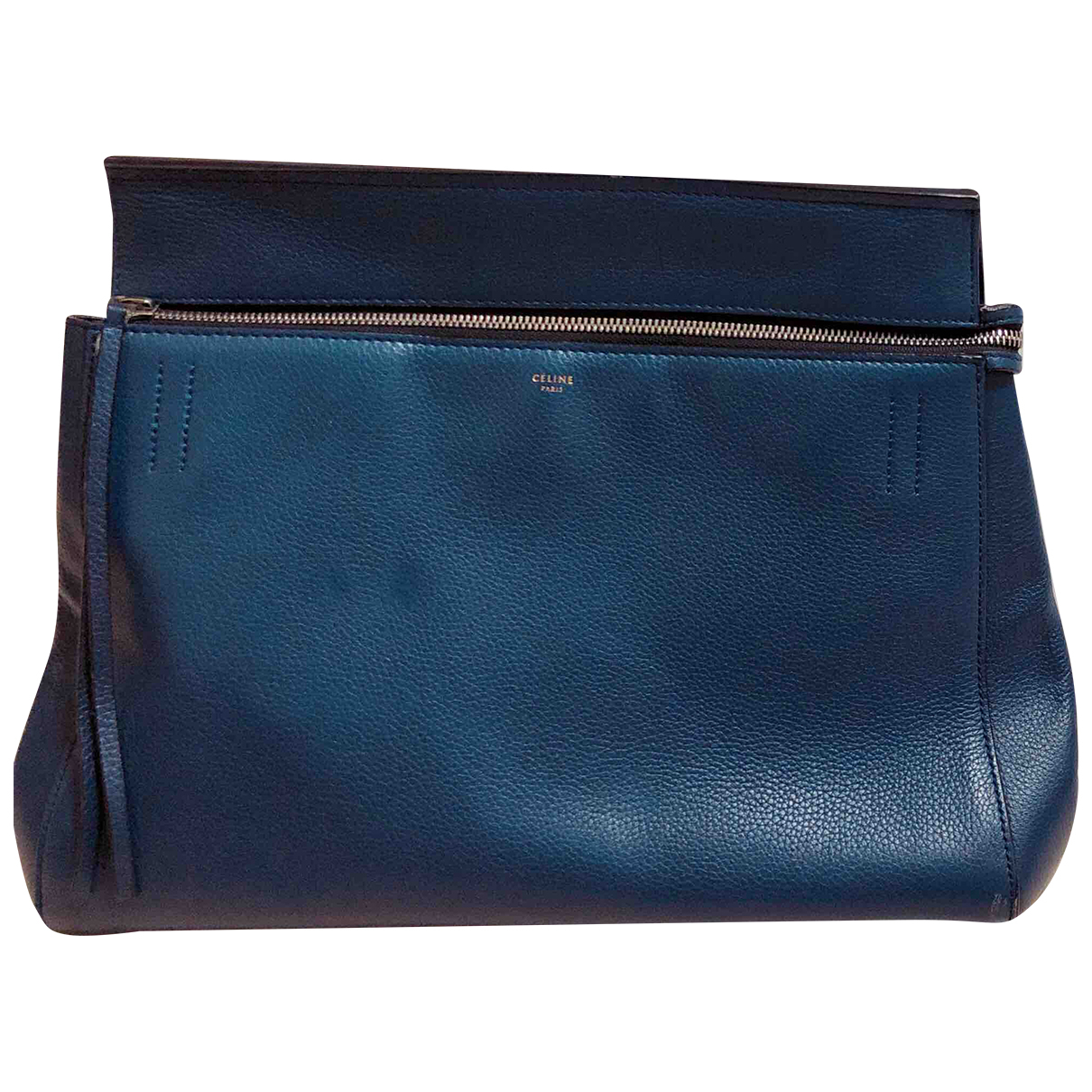 Celine Edge Blue Leather handbag for Women \N