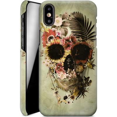 Apple iPhone XS Smartphone Huelle - Garden Skull Light von Ali Gulec