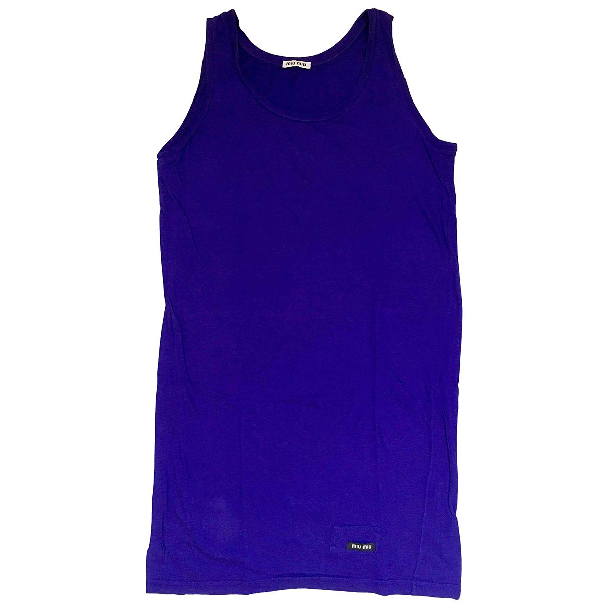 Miu Miu - Top   pour femme en coton - violet