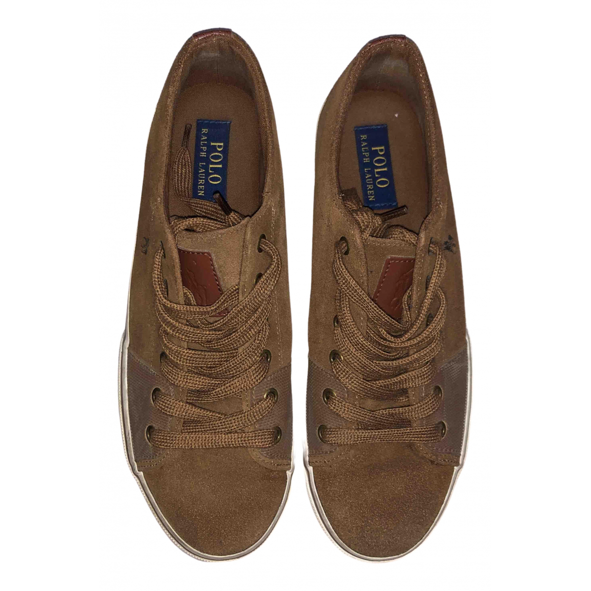 Polo Ralph Lauren \N Sneakers in  Kamel Veloursleder