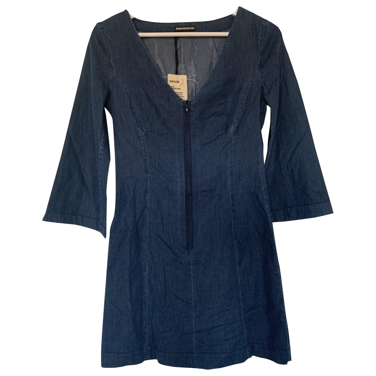 Drykorn - Robe   pour femme en coton - elasthane - bleu