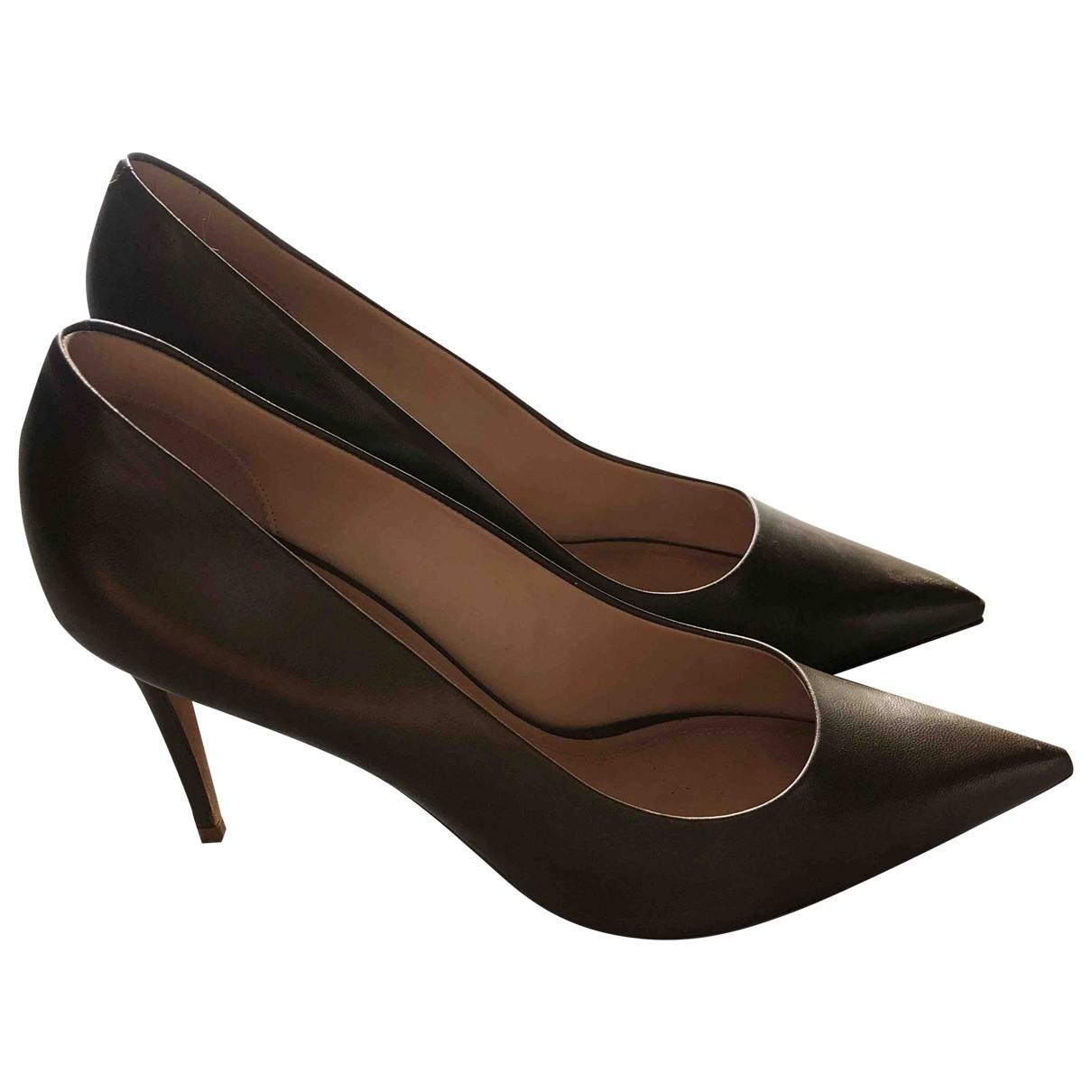Celine Sharp Khaki Leather Heels for Women 40 EU