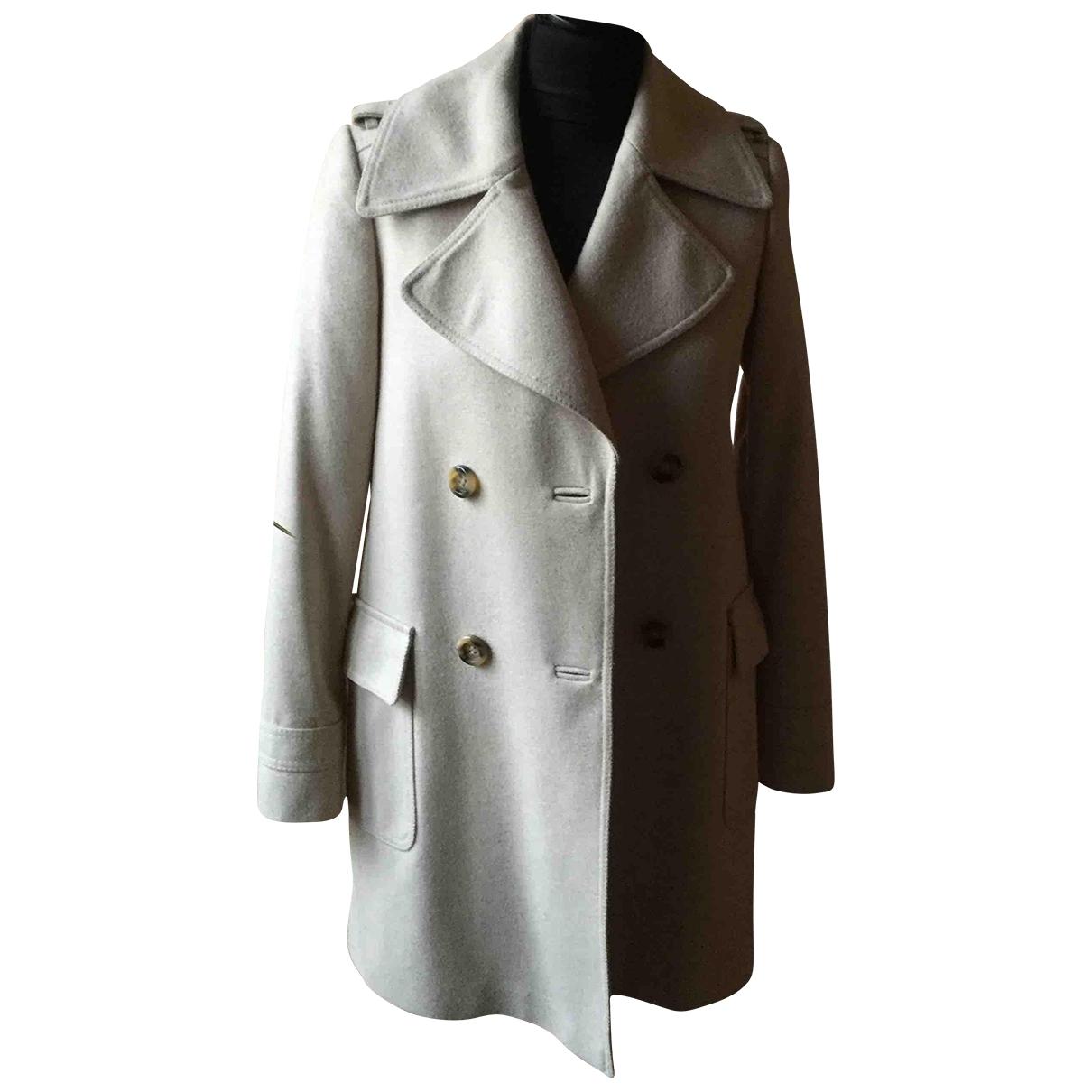 Massimo Dutti \N Ecru Wool jacket for Women 38 FR