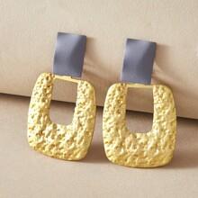 1 Paar geometrische strukturierte Ohrringe