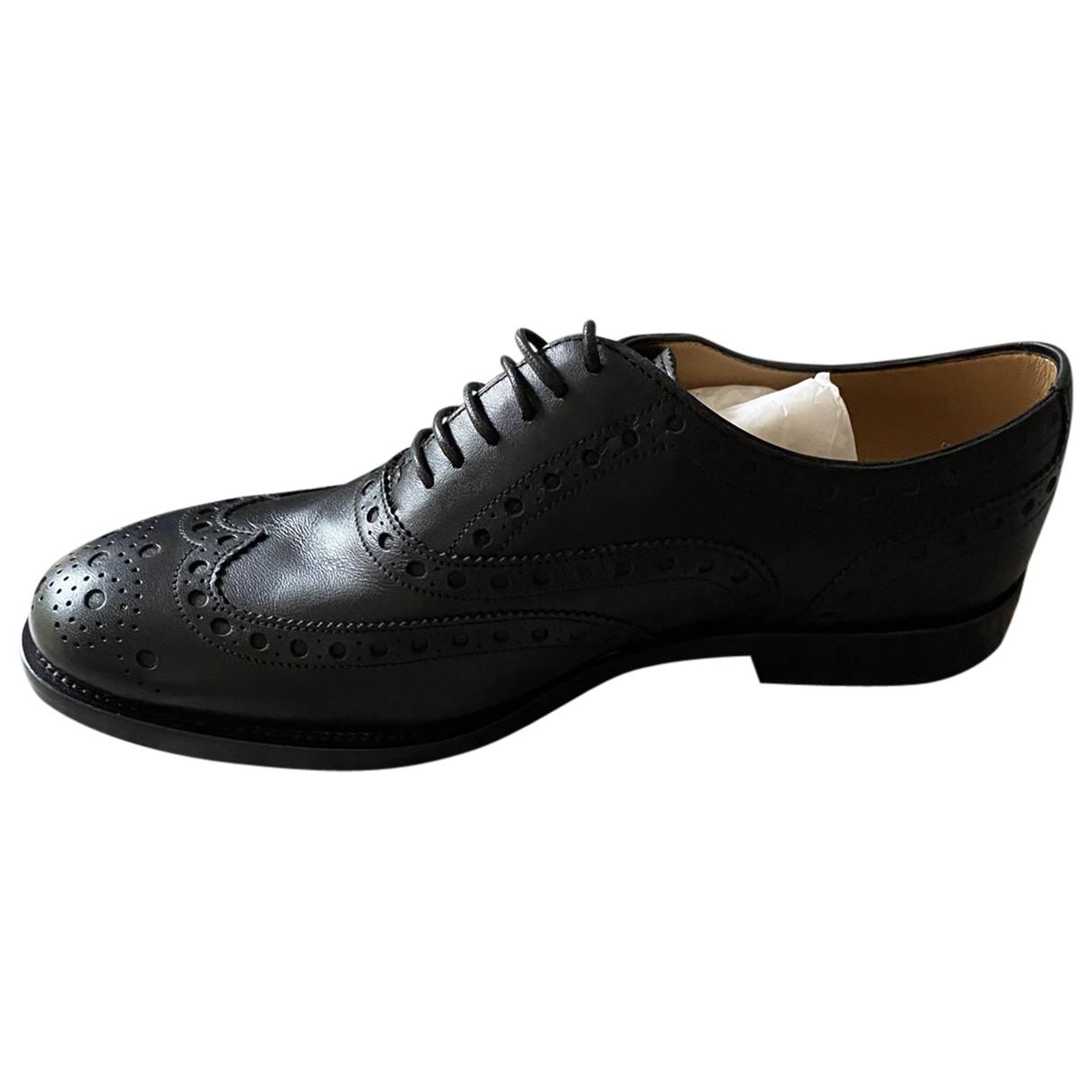 Bally - Derbies   pour femme en cuir - noir