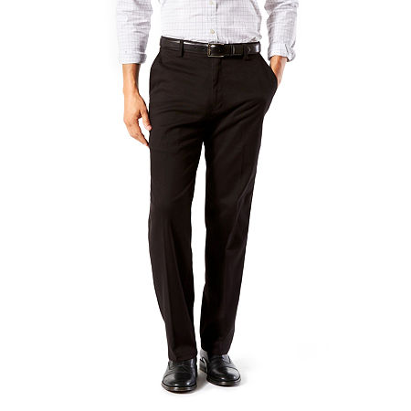 Dockers Men's Classic Fit Easy Khaki with Stretch Pants D3, 36 34, Black
