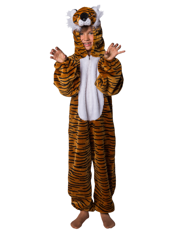 Overall Pluesch Tiger braun 140/164