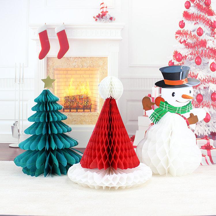 Christmas DIY Decorations Tree Hat Snowman Comb Ball Party Christmas Pendant & Drop Ornaments Su