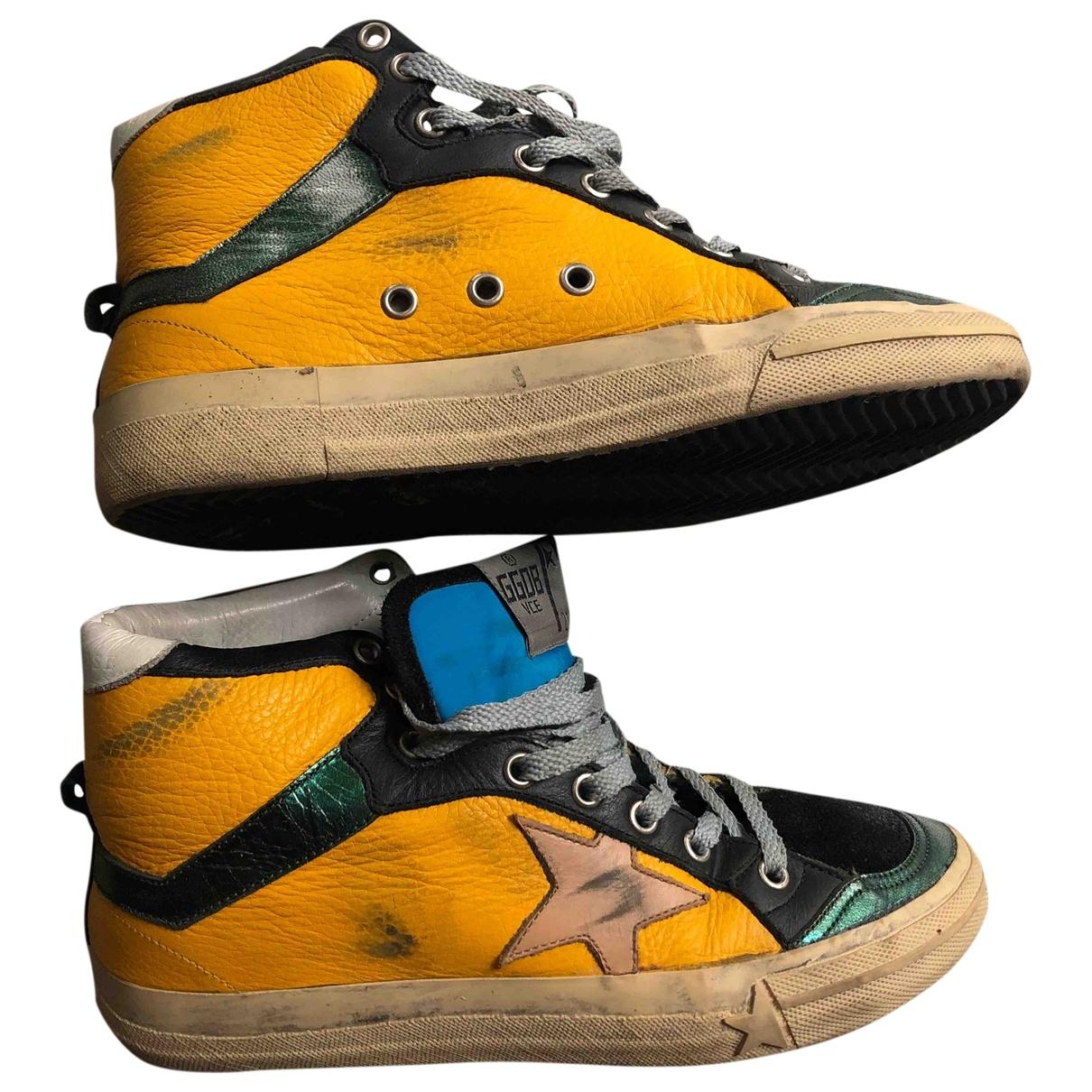 Golden Goose - Baskets 2.12 pour femme en cuir - multicolore