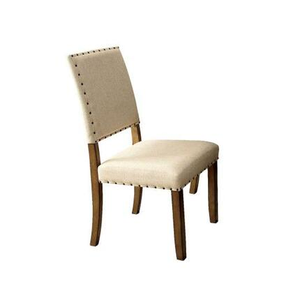 BM131284 Melston I Side Chair With Ivory Flax Fabric  Natural Tone   Set Of