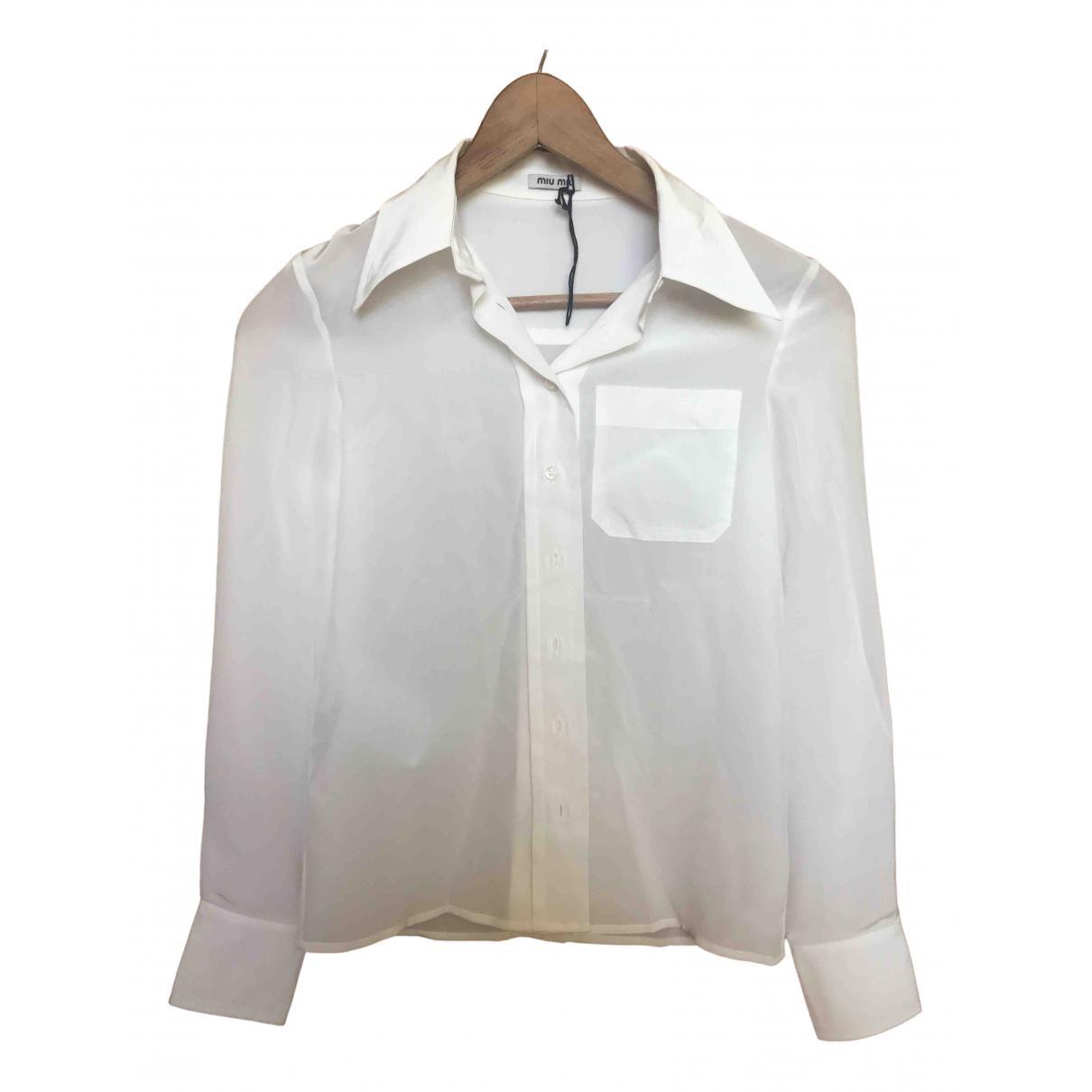Camisa de Seda Miu Miu