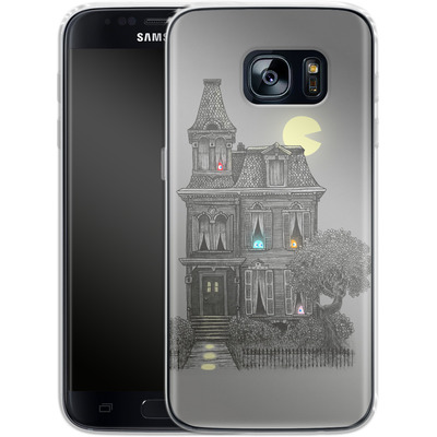 Samsung Galaxy S7 Silikon Handyhuelle - Haunted By The 80s von Terry Fan