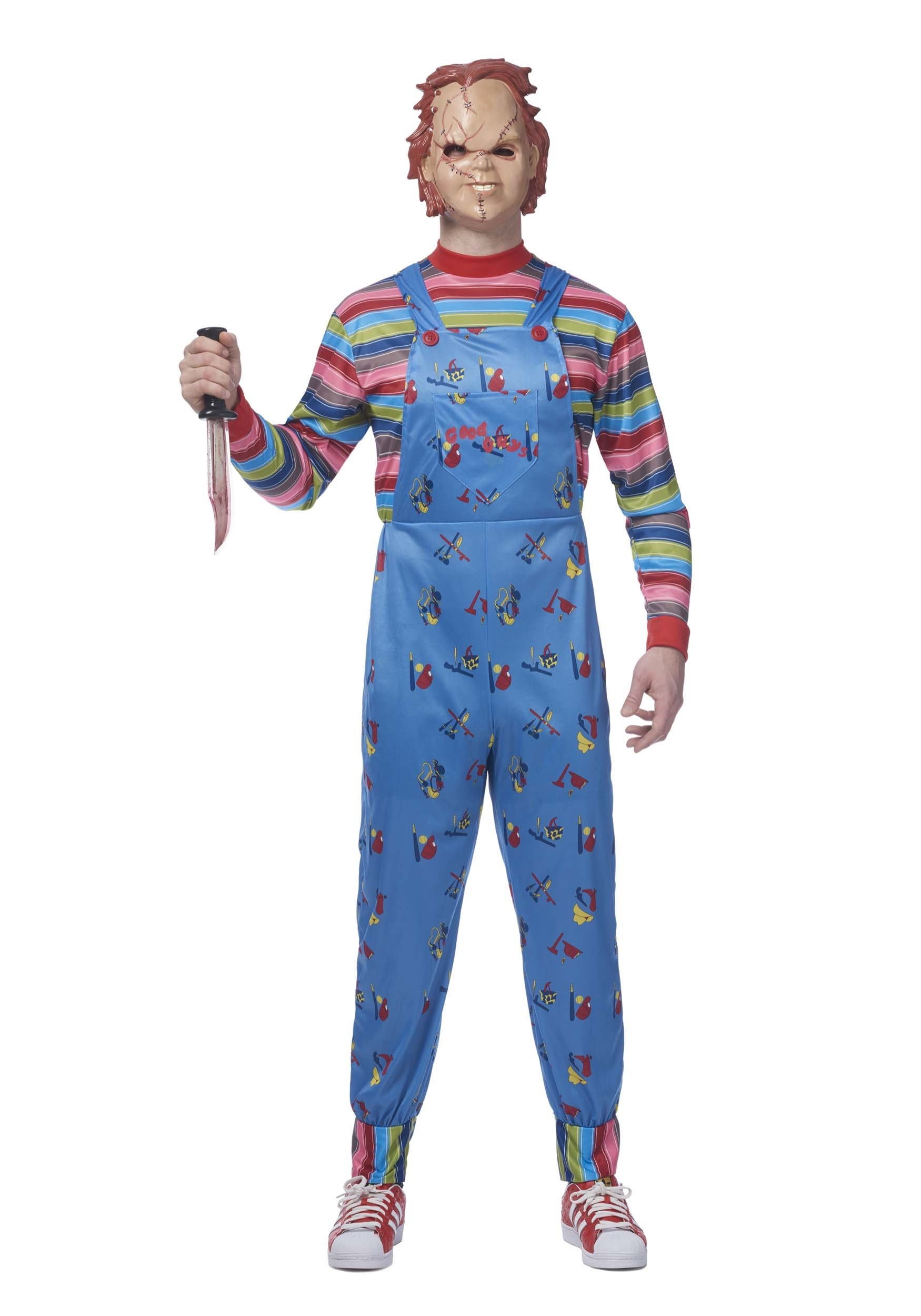 Chucky Plus Size Costume for Men W/ Chucky Mask
