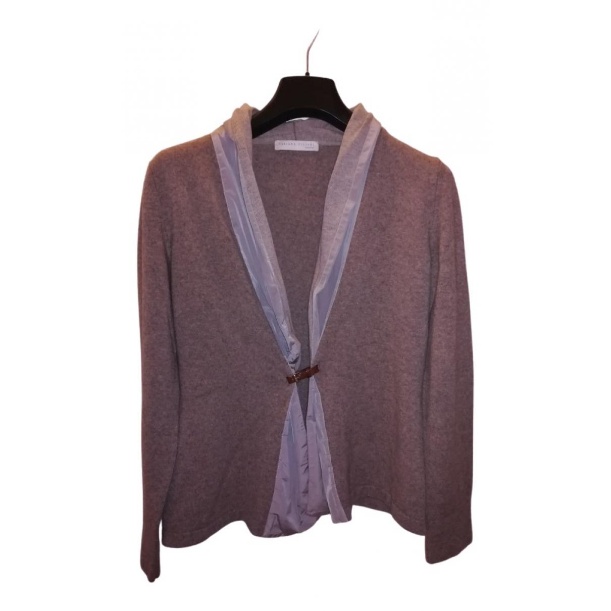 Fabiana Filippi N Brown Wool Knitwear for Women 46 IT