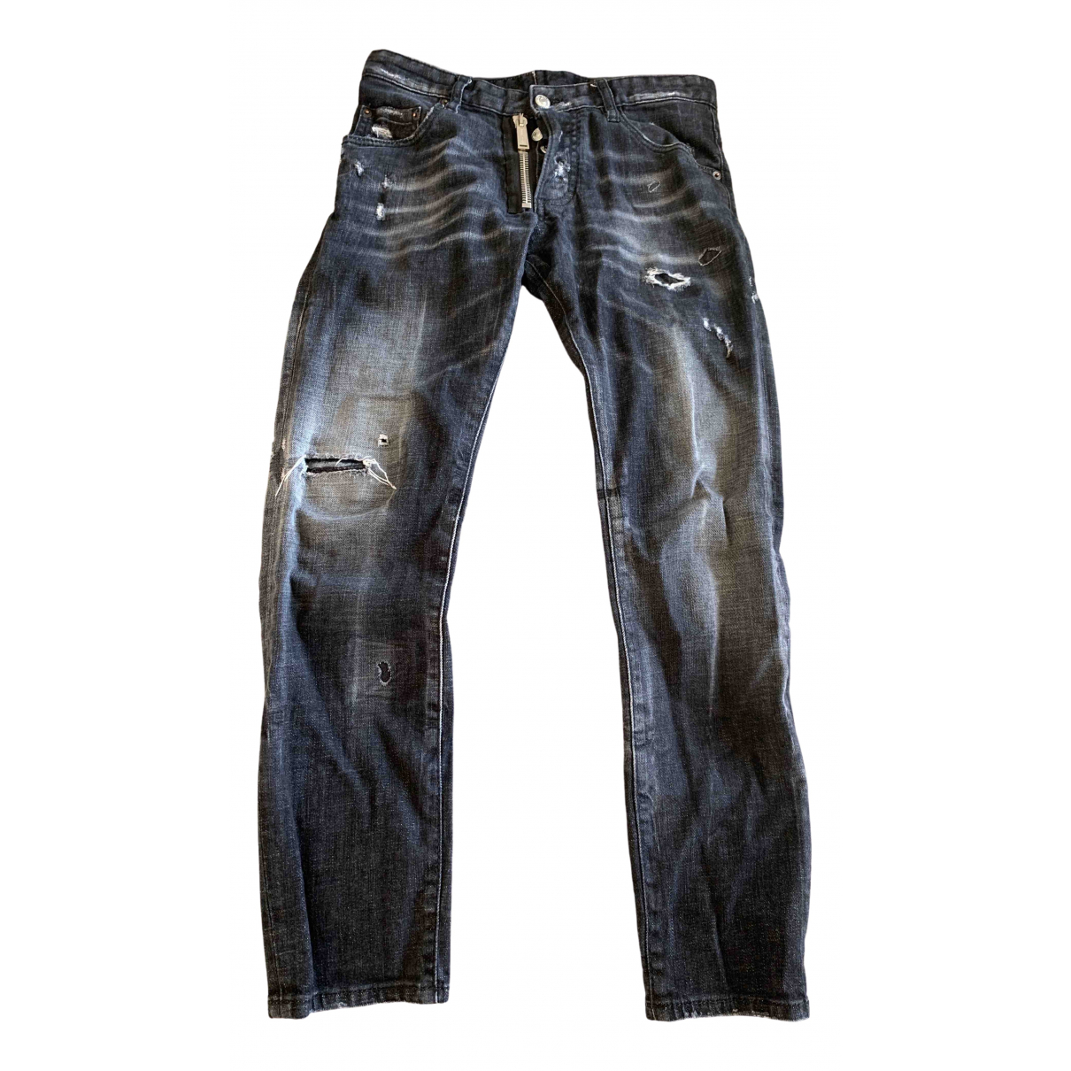 Dsquared2 \N Black Cotton - elasthane Jeans for Men 38 FR