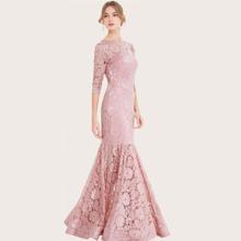 Angel-Fashions Prom Kleid mit Meerjungfrau Saum und Spitzen