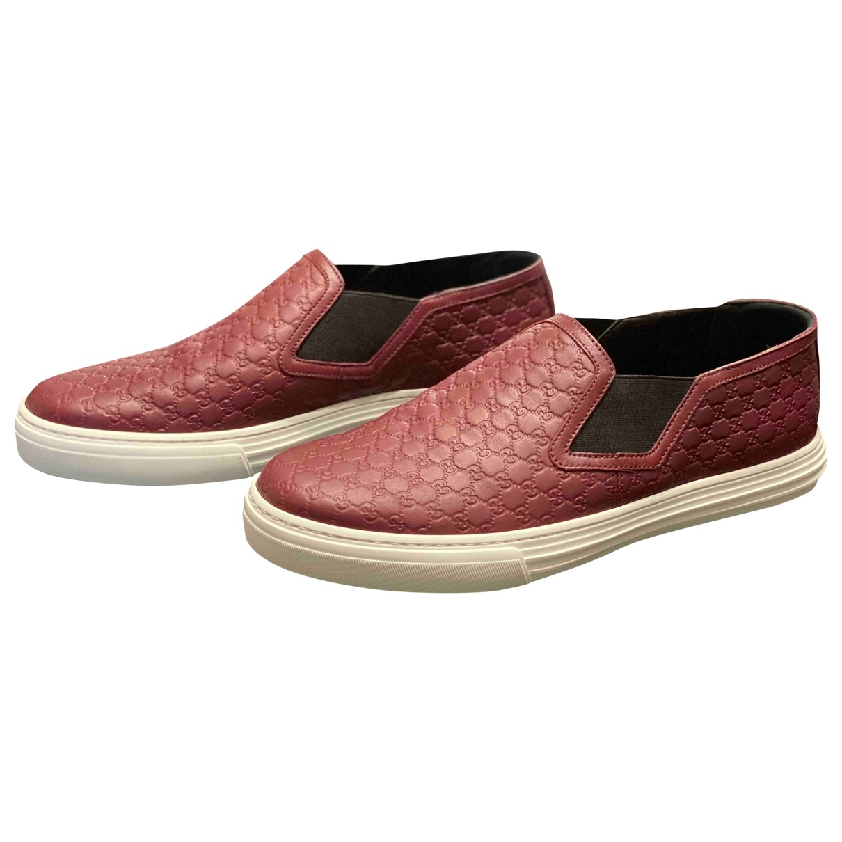 Gucci \N Burgundy Leather Trainers for Men 7 UK