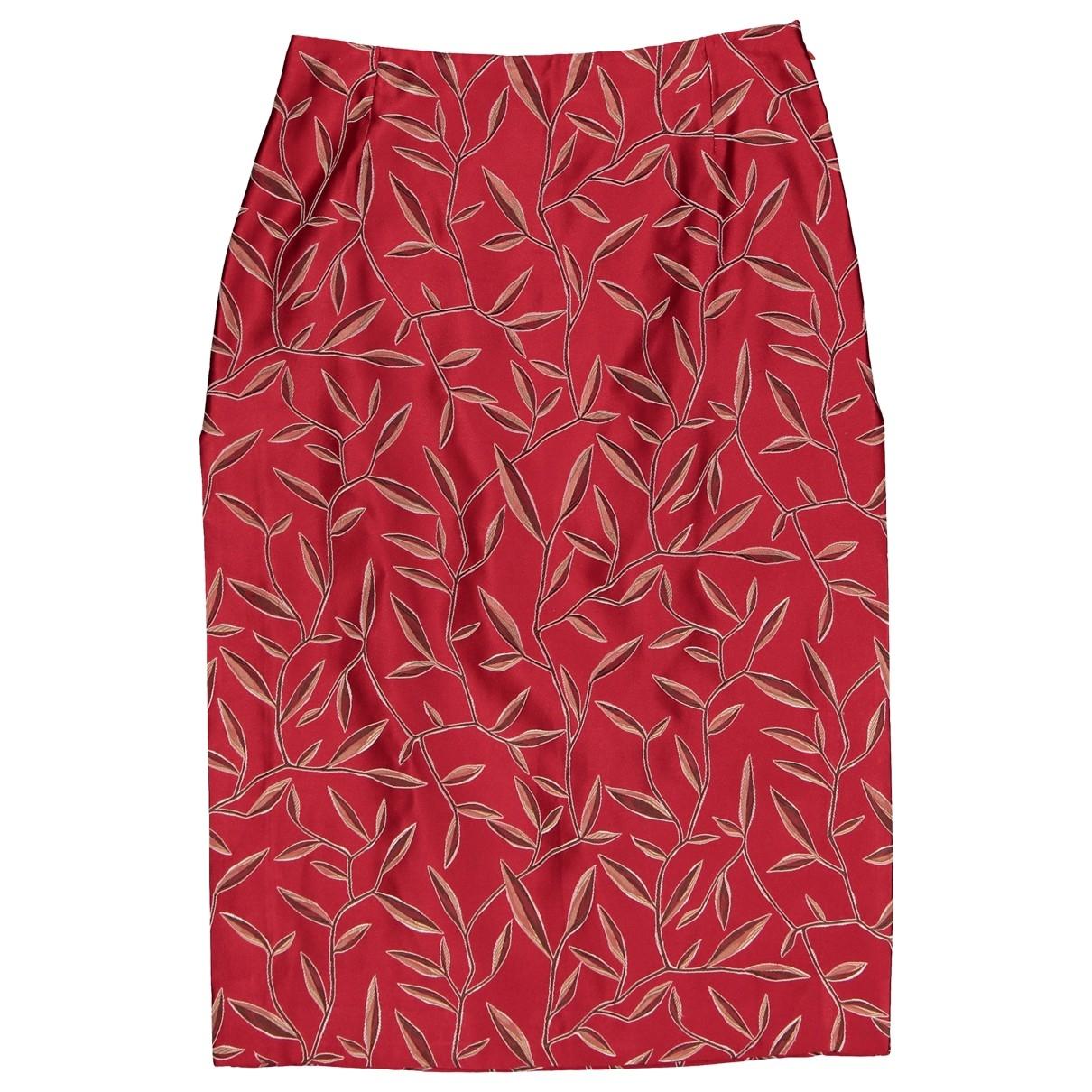Prada \N Red Silk skirt for Women 42 IT
