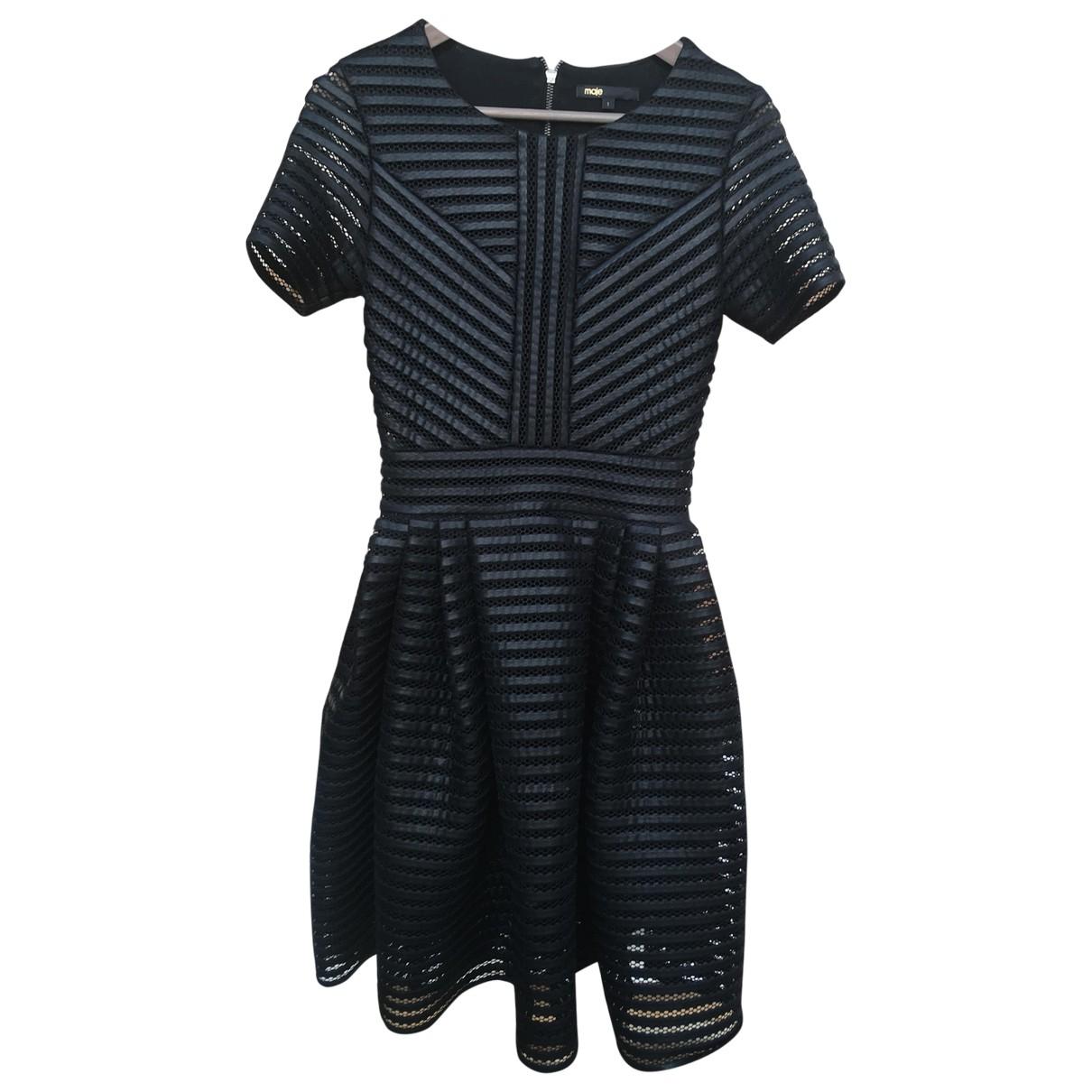 Maje \N Black Leather dress for Women 36 FR