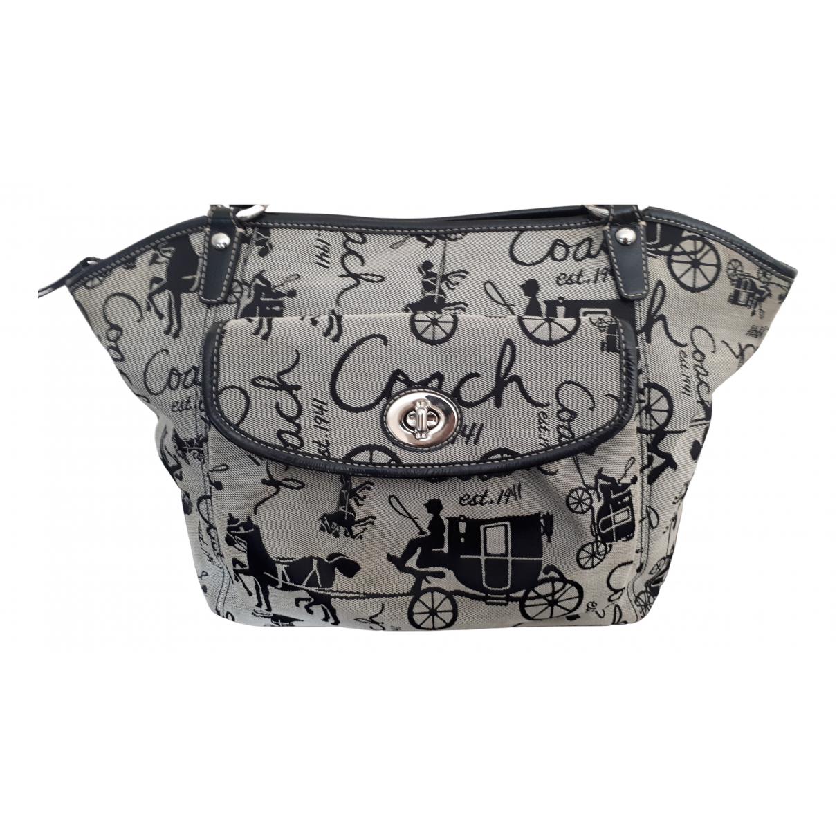 Coach N Grey Cloth handbag for Women N