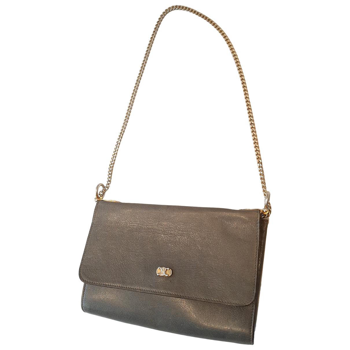 Celine N Grey Leather Clutch bag for Women N