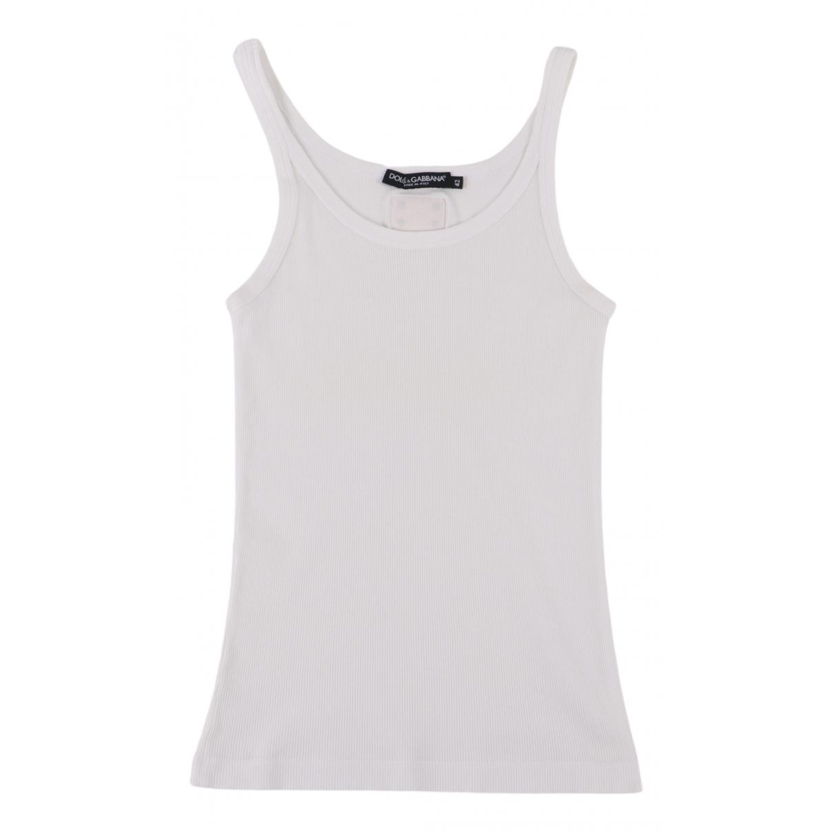 Dolce & Gabbana - Top   pour femme en coton - blanc