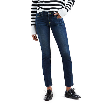 Levi's Classic Mid Rise Skinny Jean, 14 Short , Blue