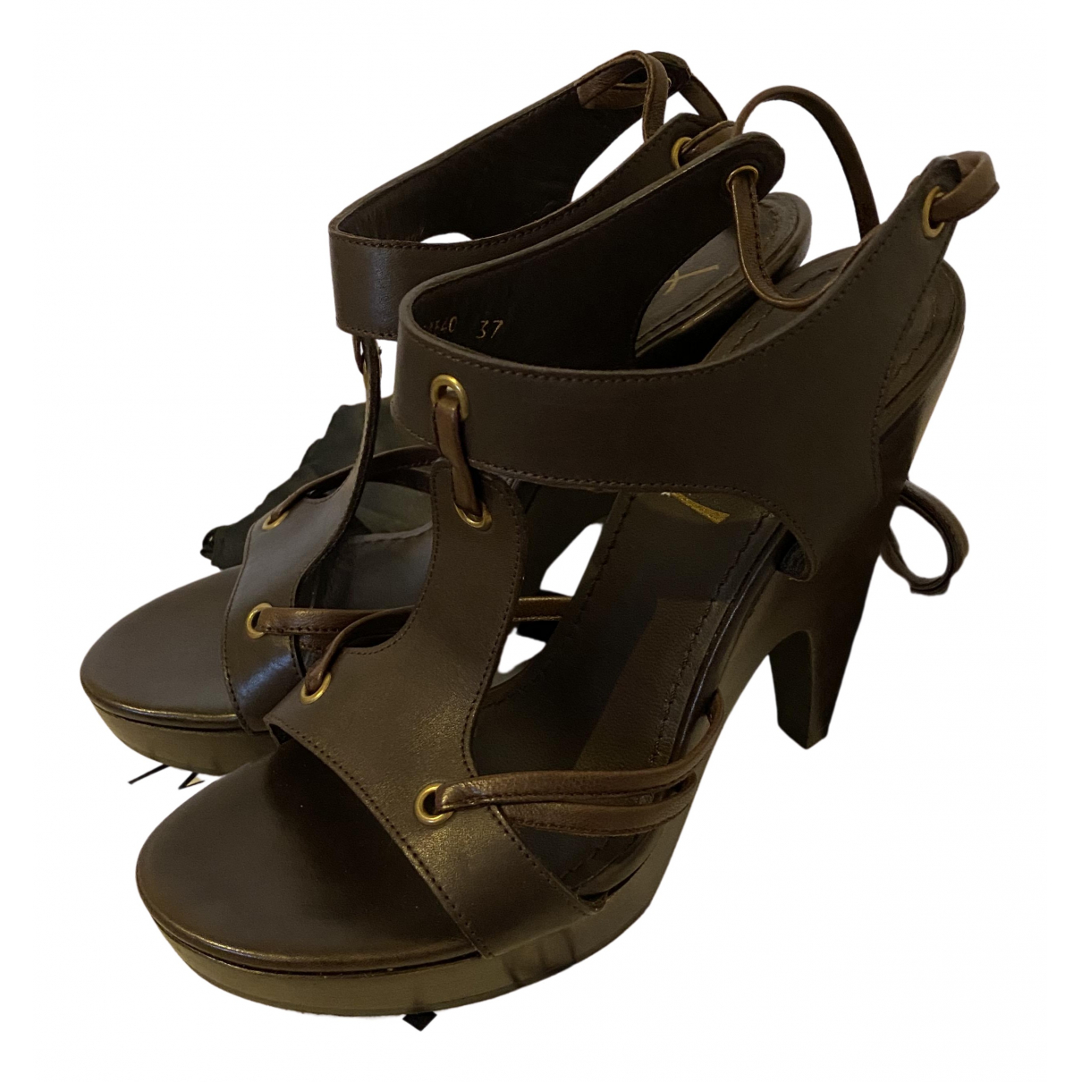 Sandalias de Cuero Yves Saint Laurent
