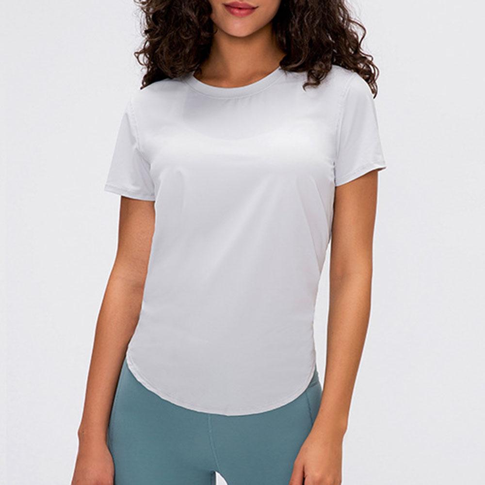Women's Short Sleeve Yoga Tops Activewear Running Workouts T-Shirt Cross Back Sports Shirts Women Yoga Shirt