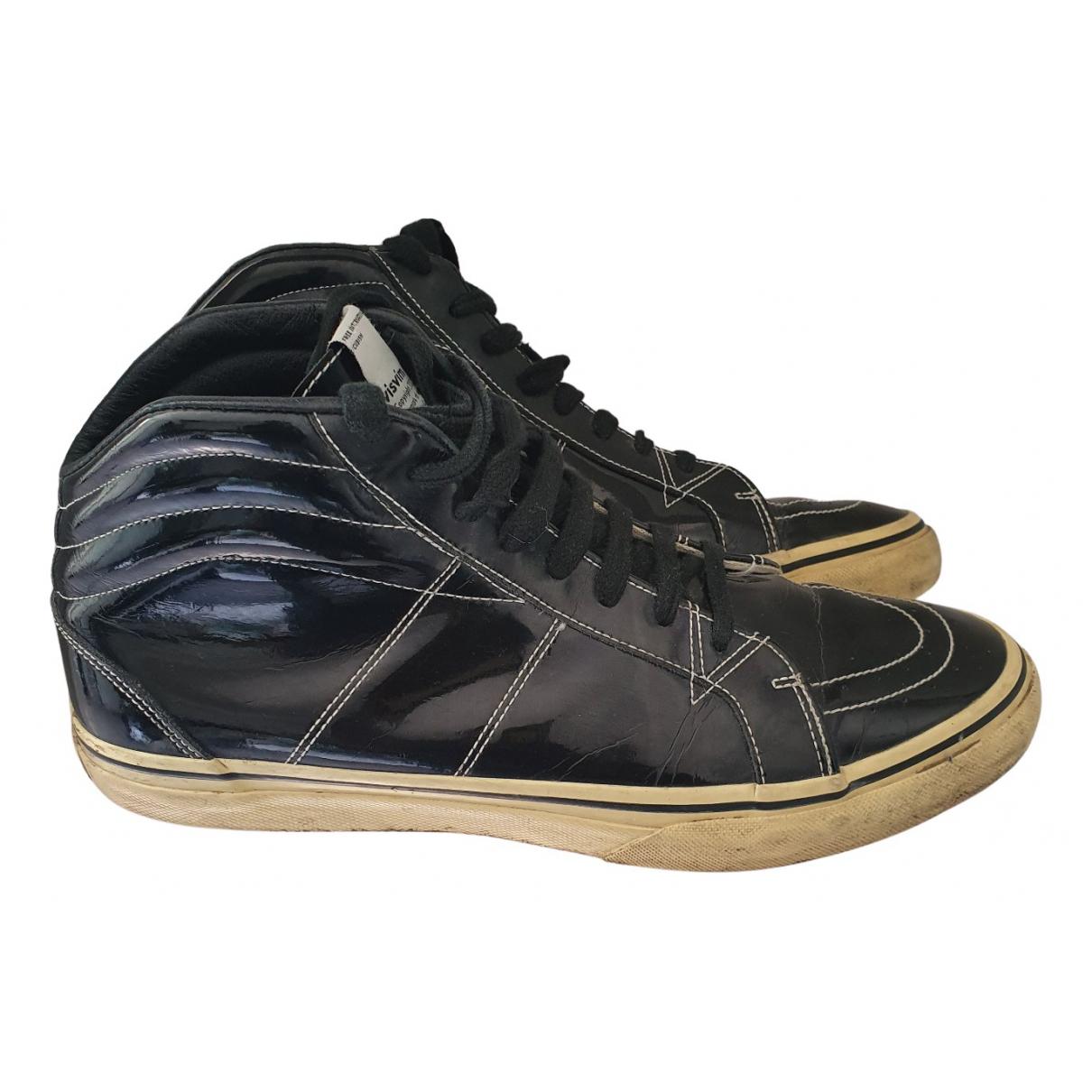Visvim N Black Patent leather Trainers for Men 44 EU