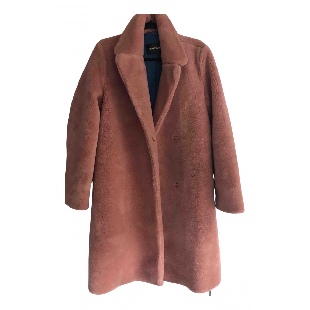 Stine Goya - Manteau   pour femme en fourrure synthetique - rose